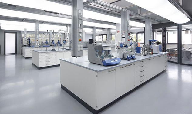 全钢实验室家具展区