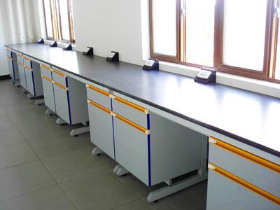 钢木结构理化板台面实验边台