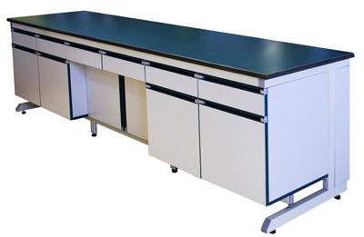 医院钢木实验边台耐酸碱操作边桌