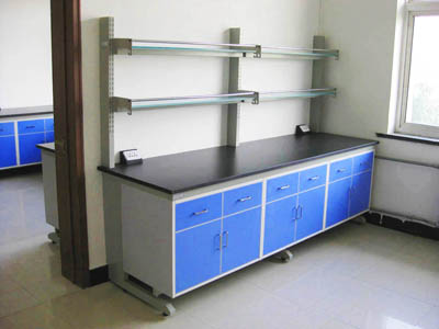 理化板工作边台钢木单面操作桌