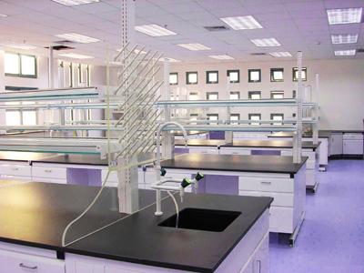 钢木实验台双面操作中央实验桌
