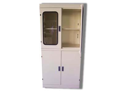 木制实验室资料柜玻璃门落地柜
