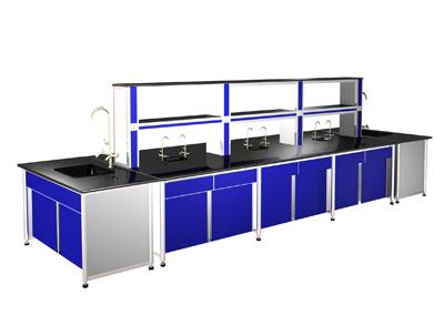 学校双人双面操作台钢木实验台