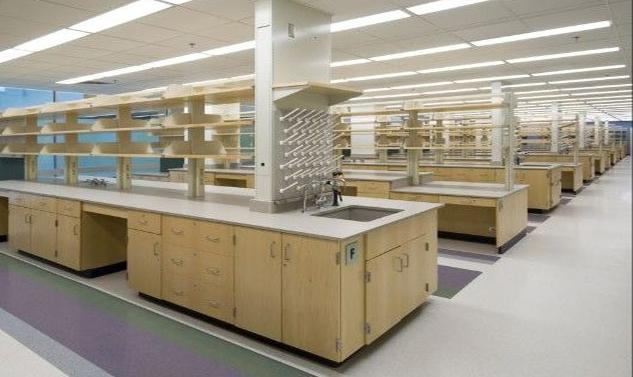 木实验台理化板台面中央双面台