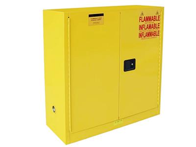 全钢黄色带锁防爆柜防火保险柜